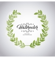 Green leaves icon Watercolor design vector image