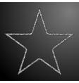 Frame Silver Sequins Star Glitter Sparkle vector image