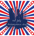 4th of July celebration background vector image