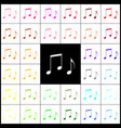 music notes sign  felt-pen 33 colorful vector image