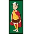 Funny Julius Caesar vector image