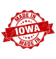 made in iowa round seal vector image