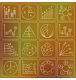 charts doodles chalky vector image