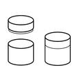 cylinder box vector image