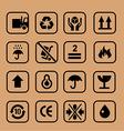 cardboard icon circle vector image