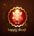 hindu lord ganesh vector image
