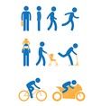 Icon only man vector image