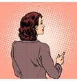 Woman autumn clothes back retro style vector image