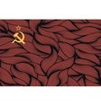 Abstract textured flag of Soviet Union vector image