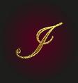 i golden letter vector image vector image