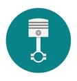 Piston engine flat icon vector image