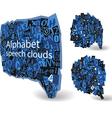Blue talk bubbles vector image