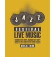 Musical poster depicting jazz festival vector image