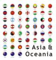 Asia round flags vector image