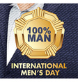 card for real men vector image