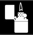 cigarette lighter white color icon vector image