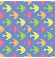 Colorful fishes pattern vector image