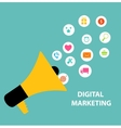 Digital Marketing Concept for Different Electronic vector image