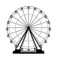ferris wheel icon vector image