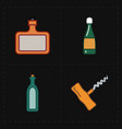 modern bar icons vector image