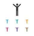of folks symbol on happy man vector image