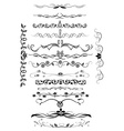 Page decor rules set vector image