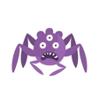 Purple Spider Shaped Aggressive Malignant Bacteria vector image