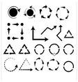 Set of black universal arrows vector image