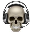 Skull with headphones vector image