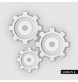 White Gear system vector image