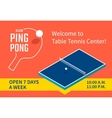Table tennis banner vector image
