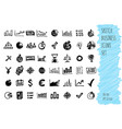 hand draw doodle business icon set collection of vector image