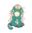 kind monster who loves good music vector image