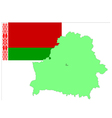 6216 belarus map and flag vector image vector image