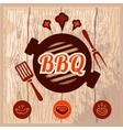 bbq logo design vector image vector image