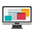 Computer monitor screen flat icon vector image