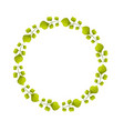 beauty circle of leaves decoration design vector image