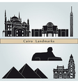 Cairo landmarks and monuments vector image