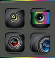 camera lens button vector image
