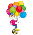 clown bicycle vector image