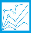 Financial statistics icon white vector image