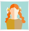 flat girl icons vector image