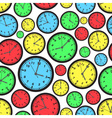 time zones color clock seamless pattern eps10 vector image