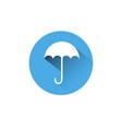 umbrella icon blue round on white background vector image