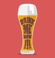 Glass of beer drink me now vector image