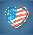 heart with usa flag vector image