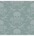 Skull and Pistons Seamless Background vector image vector image
