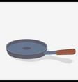 metal pan vector image vector image