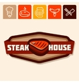 steak house vector image