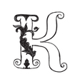 The vintage style letter K vector image